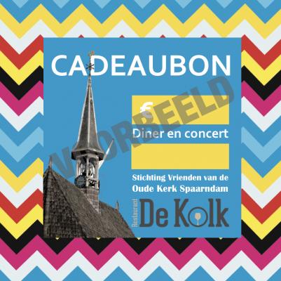 cadeaubon St Vrienden van de Oude Kerk Spaarndam -voorbeeld-